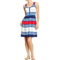 Old Navy Womens Striped Henley Tank Dresses ($25) ❤ liked on Polyvore