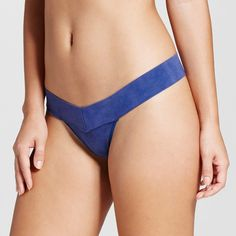 Women's Seamless Thong Blue Denim Wash XL - Xhilaration, Dark Denim
