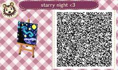 ACNL Qr code painting Starry Night -Vincent van Gogh