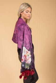 Shop the latest new arrivals from Jayley, featuring silk kimonos, suedette capes, cashmere wraps, fur gilets & ponchos.