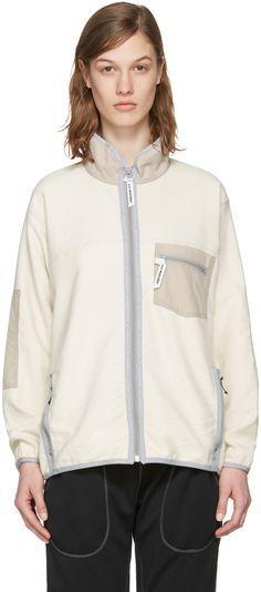 and Wander - Off-White Pile Denim Jacket