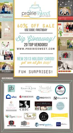Big Giveaways! over at http://www.prairiesweet.com/prairie-sweet-boutiques-first-birthday-bash-giveaway/#comment-5166