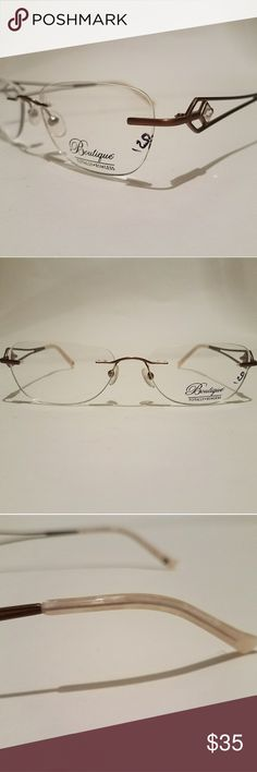 bd5dc70a3ab Totally Rimless Boutique Rx Glasses Totally Rimless Boutique Rx Glasses  feminine bronze and pink with a