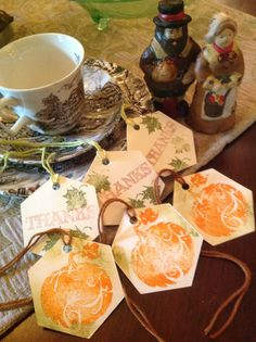 Assorted Thanksgiving Handstamped Tags by SimpleSouthernSass, $6.95