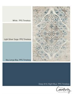How to create a color palette for a space from a rug.