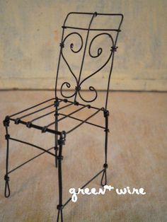 椅子 【 petit panier vol.7 ~pizzicato~】の画像:green + wire