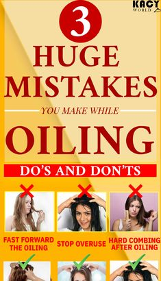 Avoid these mistakes while oiling your Hair . Avoid these mistakes while oiling your Hair . Argan Oil For Hair Loss, Best Hair Loss Shampoo, Biotin For Hair Loss, Biotin Hair, Hair Shampoo, Biolage Hair, Hair Growth Shampoo, Hair Scalp, Hair Cure