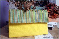 Crochet Clutch Purse. Crochet Yellow  Foldover by InoriCreations
