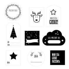Etykiety na prezenty do druku Christmas Presents, Christmas Time, Xmas, Holiday, Winter Time, Origami, Diy And Crafts, Mandala, Bullet Journal