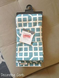 She did what?! Wow...you have to see what she did with these napkins! If you have throw pillows, you need to check this out!