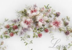 Wonderful Ribbon Embroidery Flowers by Hand Ideas. Enchanting Ribbon Embroidery Flowers by Hand Ideas. Silk Ribbon Embroidery, Embroidery Needles, Crewel Embroidery, Cross Stitch Embroidery, Embroidery Patterns, Machine Embroidery, Embroidery Tattoo, Ribbon Quilt, Ribbon Art