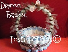 Diaper Basket INSTRUCTIONS Make it fill it w/ baby by babyboo0722, $8.99