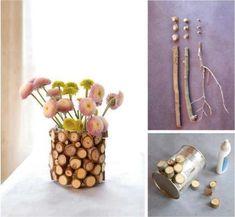 Inspiring image diy, diy craft, diy projects, diy tree branches vase - Resolution - Find the image to your taste Diy Projects To Try, Craft Projects, Wood Crafts, Diy And Crafts, Diy Wood, Deco Nature, Deco Originale, Creation Deco, Deco Floral