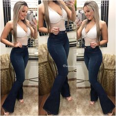Hot Outfits, Girly Outfits, Trendy Outfits, Fashion Outfits, Looks Country, Edgy Style, Curvy Girl Fashion, Hippie Outfits, Sexy Jeans