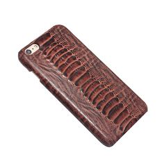 Real Leather Phone Case For Apple iPhone 6 6S 6 plus 6S plus 5SE Ostrich Foot Pattern