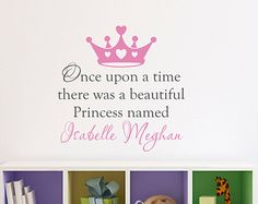 Princess Wall Decal Personalized Name by StephenEdwardGraphic