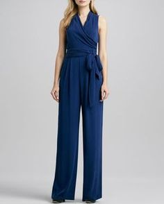 Favorites Wrap-Front Jumpsuit by Catherine Malandrino at Neiman Marcus.