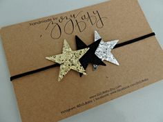 Gold and Silver Glitter Star Headband New Year's by ZoZuBaby