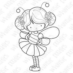 little girl in bee costume Coloring Pages For Girls, Coloring Book Pages, Printable Coloring Pages, Angel Drawing, Drawing Sketches, Drawings, Kawaii Doodles, Pattern Illustration, Digi Stamps