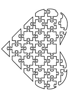 Coloring Page jigsaw heart - free printable coloring pages Heart Coloring Pages, Free Coloring Sheets, Printable Adult Coloring Pages, Colouring Pages, Coloring Books, Puzzles, Disney Alphabet, Color Puzzle, Teaching Materials