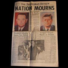 President John F Kennedy JFK Assassination Newspaper Nov. 22, 1963 - 2 - TnTCollectibles - 1