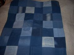 Recycled Blue Jean  Nascar Quilt by jeanoligy on Etsy, $64.72