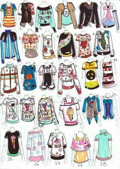 Clothes, outfits, shirts, text; How to Draw Manga/Anime