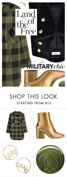 """Military Chic for Fall"" by cultofsharon ❤ liked on Polyvore featuring H&M, Yves Saint Laurent, Salvatore Ferragamo, BP. and Jin Soon"
