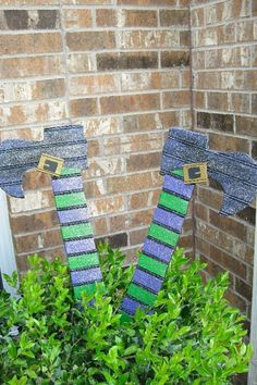 Silly Crashed Witch Yard Stake Yard Art  by WildeWoodTreasures, $45.00