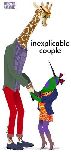 inexplicable couple http://hipster-animals.tumblr.com/page/21