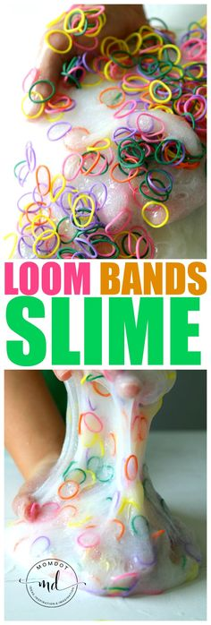 Loom Bands Slime, Crunchy Slime Tutorial with Loom Bands