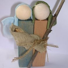Rustic Nativity Figures