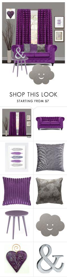 """Gray&purple"" by subvilli on Polyvore featuring interior, interiors, interior design, home, home decor, interior decorating, Lush Décor, Missoni Home, Andrew Martin and LIND DNA"
