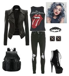 """Dimonds on my wrists, liquor on my lips"" by teganself on Polyvore featuring Topman, Topshop, Pleaser, Bliss Diamond and Kenneth Jay Lane"