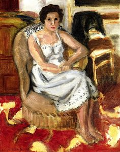 Henri Matisse   1920   Woman Seated in an Armchair   Oil on canvasboard on panel   41 cm (16.14 in.) x 33 cm (12.99 in.)   Private collection