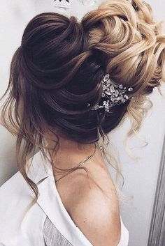 30 Elegant Wedding Hairstyles For Stylish Brides ❤️ elegant wedding hairstyles high ombre updo with accessories verafursova ❤️ See more: http://www.weddingforward.com/elegant-wedding-hairstyles/ #wedding #bride #weddinghairstyles #eleganthairstyles