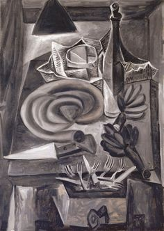 Pablo Picasso, Still Life with Blood Sausage (Nature morte au boudin), Grands-Augustins, Paris, May 10, 1941
