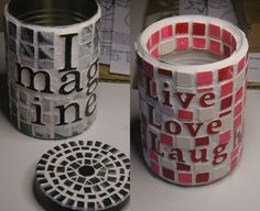 50 Extremely Ingenious Crafts and DIY Projects That Are Recycling, Repurposing & Upcycling Tin Cans Tin Can Crafts, Cute Crafts, Crafts To Do, Diy Crafts, Crafts With Tin Cans, Soup Can Crafts, Coffee Can Crafts, Recycle Cans, Ways To Recycle