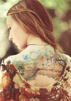 50 Insanely Gorgeous Nature Tattoos// love the realistic-looking ones. Hopinh for something like this