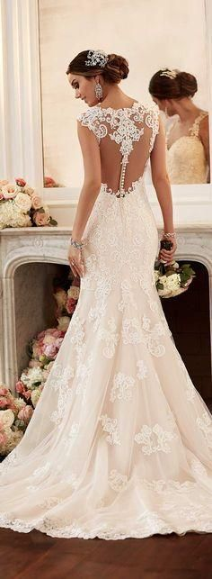 Obsessed with Stella York's Spring 2016 Wedding Dress collection! Would want longer sleeves: