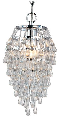 """Buy the AF Lighting Polished Chrome Direct. Shop for the AF Lighting Polished Chrome Elements Series """"Crystal Teardrop"""" Chandelier with Clear Drop Glass Accents, Finished in Polished Chrome and save. Mini Pendant, Crystal Pendant, Crystal Chandeliers, Crystal Decor, White Chandelier, Lantern Pendant, Home Living, Living Rooms, Chandelier Lighting"""