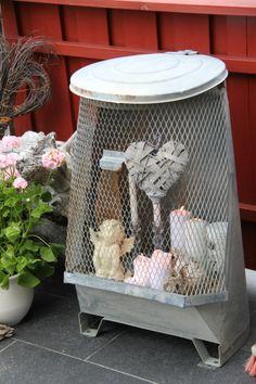 BenteMay - gjenbruk av gammel søppelkasse. genialt !!
