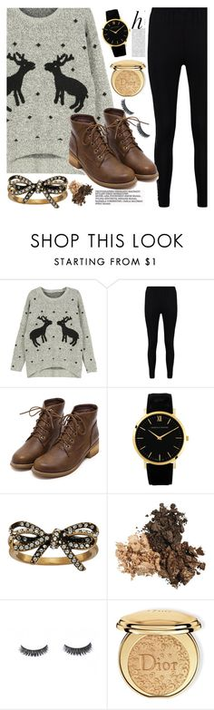 """""""Ugly Sweater"""" by mirmir-825 ❤ liked on Polyvore featuring WithChic, Boohoo, Marc Jacobs, Whiteley, Christian Dior, Boots, Leggings and Uglysweater"""