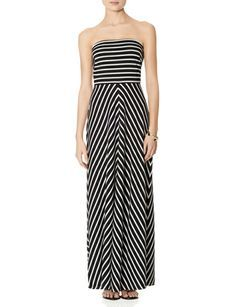 Striped Strapless Maxi Dress from THELIMITED.com #TheLimited