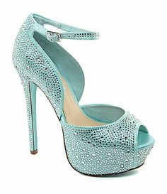 I think I found my wedding shoes.. but in Champang Blue by Betsey Johnson Kiss Platform Pumps #Dillards