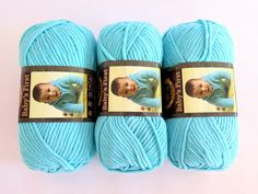 3 Sea Sprite Babys First Yarn Blue Turquoise by TalicakeCrochet