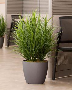 "lifelike lush 34"" tall silk grass plant"