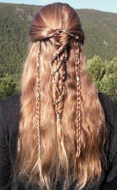 Pretty Hairstyles, Braided Hairstyles, Medieval Hairstyles, Fantasy Hairstyles, Pirate Hairstyles, Elvish Hairstyles, Wedding Hairstyles, Viking Braids, Braid Styles