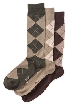 Polo Ralph Lauren Argyle Socks (3-Pack) available at Nordstrom