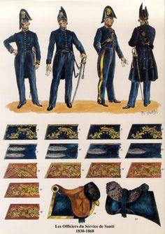 Les Officiers du Service de Sante Les planches uniformologiques de Robert Aubry